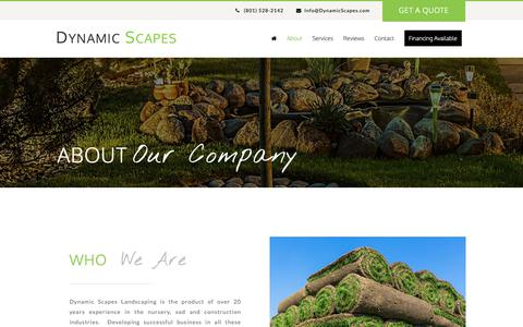 Screenshot of About Page dynamicscapes.com - About Us - Dynamic Scapes - captured Nov. 14, 2018