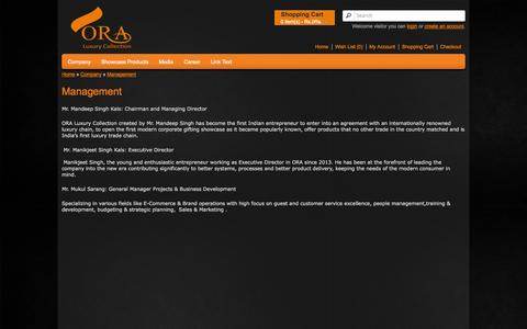 Screenshot of Team Page oraluxurycollection.com - Management - captured Oct. 26, 2014