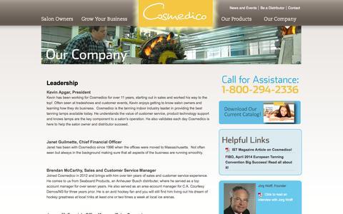 Screenshot of Team Page cosmedico.com - Leadership | Cosmedico - captured Oct. 3, 2014