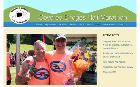 Screenshot of Press Page cbhm.com - News – Covered Bridges Half Marathon - captured Nov. 9, 2018