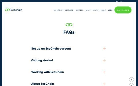 Screenshot of FAQ Page ecochain.com - FAQs - Ecochain - captured Sept. 27, 2018