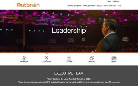 Screenshot of Team Page outbrain.com - Meet our Executive Team | Outbrain.com - captured May 15, 2018