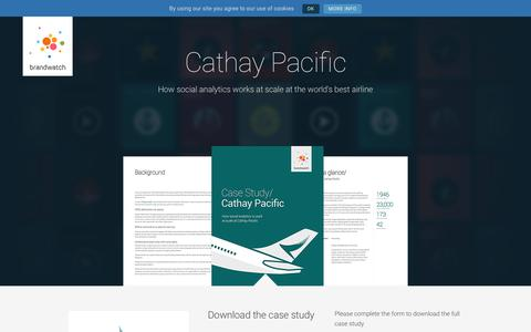 Screenshot of Case Studies Page brandwatch.com - Cathay Pacific | Brandwatch - captured Oct. 20, 2017