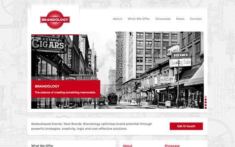 Screenshot of Home Page brandology.co.za - Brandology - captured Oct. 5, 2014