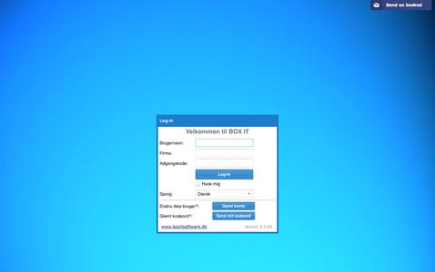 Screenshot of Login Page boxitsoftware.dk - BoxIT - captured Feb. 7, 2016