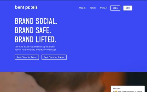 Screenshot of Home Page bentpixels.com - Bent Pixels says… - captured Aug. 1, 2018