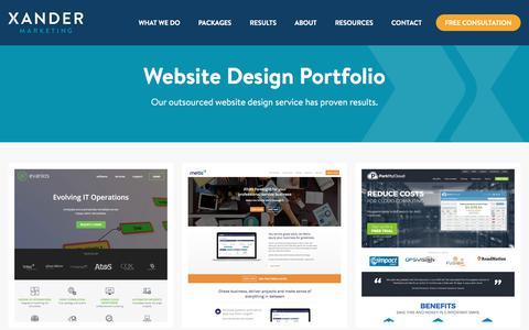 SaaS Website Design Examples | Xander Marketing