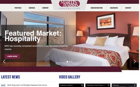 Screenshot of Home Page martinharris.com captured Feb. 12, 2016