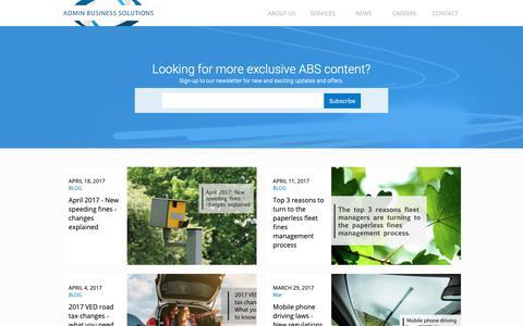 Screenshot of Press Page adminbusinesssolutions.co.uk - News - Admin Business Solutions - captured Oct. 3, 2018
