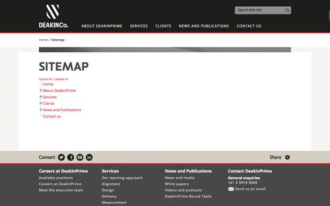 Screenshot of Site Map Page deakinprime.com - Sitemap - DeakinPrime - captured June 4, 2017