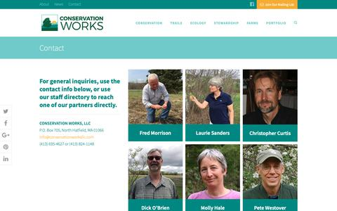 Screenshot of Contact Page conservationworksllc.com - Contact | Conservation Works - captured Nov. 5, 2018