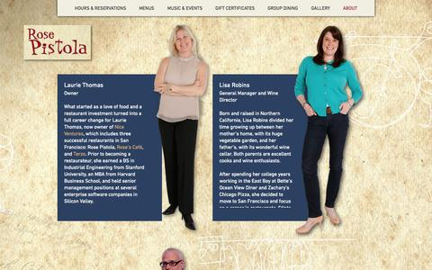 Screenshot of Team Page rosepistolasf.com - –  Our Team - captured Oct. 6, 2014