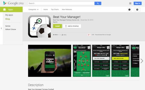 Screenshot of Android App Page google.com - Beat Your Manager! - Android Apps on Google Play - captured Oct. 25, 2014
