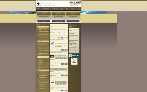 Screenshot of Blog glaroslaw.com - Blog | Tampa Bay Lawyer - captured Nov. 5, 2014