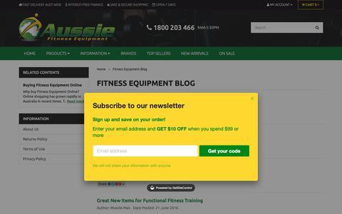 Screenshot of Blog aussiefitness.com.au - Aussie Fitness Equipment Company Blog, Best Info On Gym Gear - captured Oct. 4, 2018