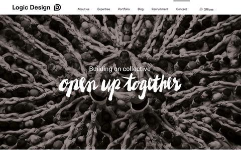Screenshot of Contact Page logic-design.com - Contact | Logic Design - captured July 11, 2018