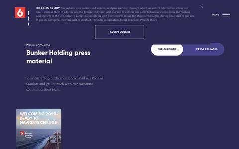 Screenshot of Press Page bunker-holding.com - Media exposure - Bunker Holding - captured Dec. 19, 2018