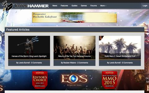 Screenshot of About Page tentonhammer.com - About | Ten Ton Hammer - captured July 16, 2015