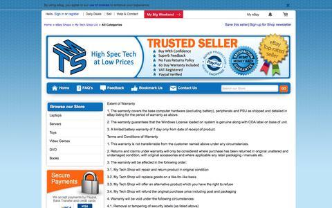 Screenshot of FAQ Page ebay.co.uk - Items in My Tech Shop Ltd store on eBay ! - captured Dec. 26, 2016