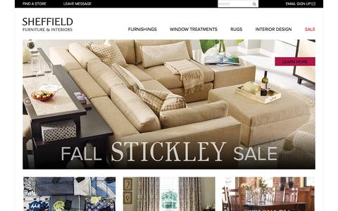 Screenshot of Home Page sheffieldfurniture.com - Sheffield Furniture & Interiors Malvern PA - Rockville MD - Dulles VA - captured Oct. 20, 2017