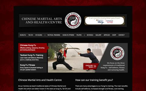 Screenshot of Home Page kung-fu.co.za - Chinese Martial Arts and Health Centre - Chinese Martial Arts and Health Centre - captured Oct. 3, 2014