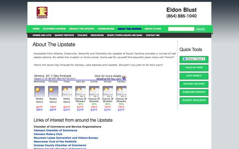 Screenshot of About Page upstateintegrityrealty.com - About the Upstate   Integrity Realty, Inc. - captured Oct. 8, 2014
