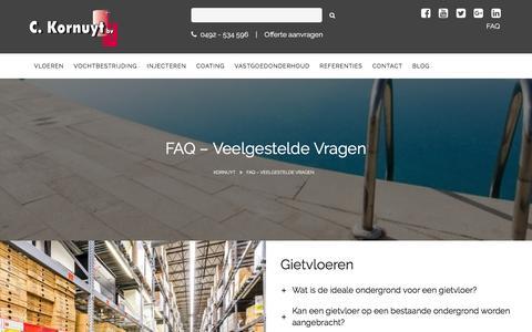 Screenshot of FAQ Page kornuyt.nl - FAQ - Veelgestelde vragen - Kornuyt - captured Nov. 27, 2016