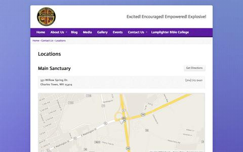 Screenshot of Locations Page kingdomlifecathedral.org - Locations - KLCM - captured Oct. 6, 2014