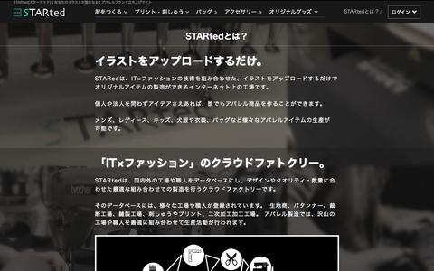 Screenshot of About Page started.jp - STARtedとは? | STARted (スターテッド) - captured Sept. 23, 2015