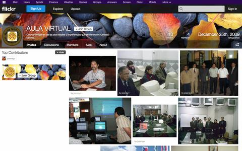 Screenshot of Flickr Page flickr.com - Flickr: The AULA VIRTUAL Pool - captured Oct. 23, 2014