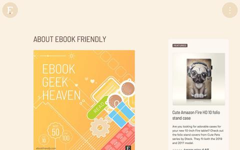 Screenshot of About Page ebookfriendly.com - About Ebook Friendly - captured Jan. 17, 2020