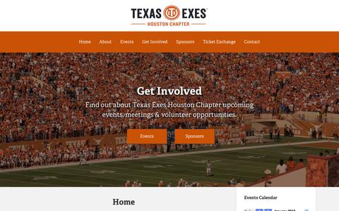 Screenshot of Home Page texasexes.com - Texas Exes - Houston Chapter - captured Jan. 27, 2015