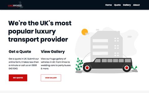 Screenshot of About Page limobroker.co.uk - About Limo Broker – UK's most popular limo hire company - captured Sept. 22, 2019