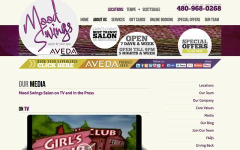 Screenshot of Press Page moodswingssalon.com - Media - Mood Swings Salon - captured Oct. 26, 2014