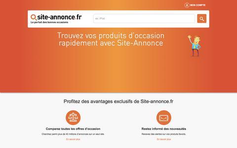 Screenshot of Home Page site-annonce.fr - Site d'annonce de produits d'occasion entre particuliers. - captured June 21, 2017