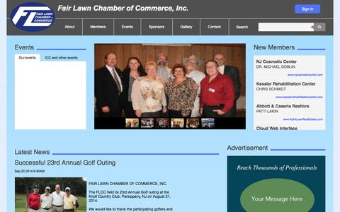 Screenshot of Home Page fairlawnchamber.org - Fair Lawn Chamber of Commerce | Home - captured Jan. 24, 2015