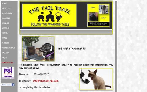 Screenshot of Contact Page thetailtrail.com - Contact Us at The Tail Trail - captured Sept. 30, 2014