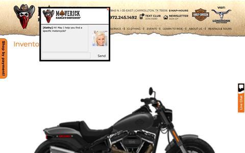 Screenshot of Site Map Page maverickhd.com - Inventorymap | Maverick Harley-Davidson® | Carrollton Texas - captured Oct. 1, 2018
