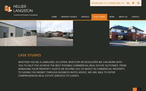 Screenshot of Case Studies Page hlp.co.uk - Case studies | Hellier Langston - captured Sept. 28, 2018