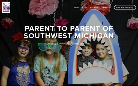 Screenshot of Home Page p2pswmi.org - Parent to Parent of SWMI - captured Jan. 25, 2016
