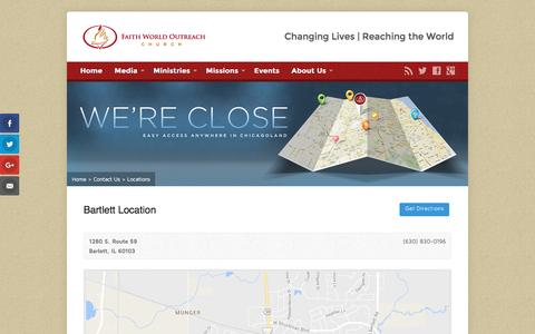 Screenshot of Locations Page fwo.org - Locations » Faith World Outreach Church - captured Nov. 24, 2016