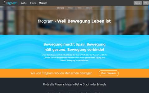 Screenshot of About Page fitogram.ch - Über uns | fitogram - captured Jan. 12, 2017