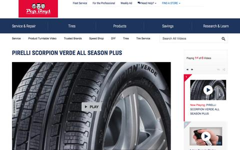 PIRELLI SCORPION VERDE ALL SEASON PLUS - Pep Boys Video Gallery