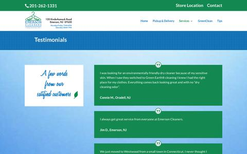 Screenshot of Testimonials Page emersoncleaners.com - Emerson Cleaners - Testimonials | Emerson Cleaners - captured Dec. 9, 2015