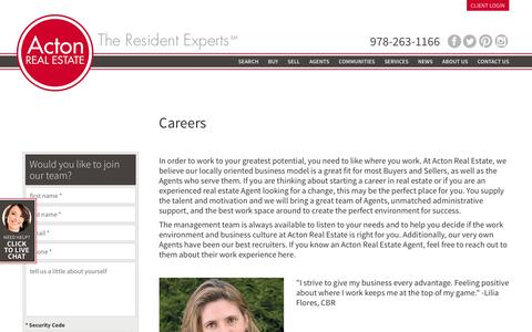 Screenshot of Jobs Page acton-realestate.com - Acton Real Estate Company - captured Nov. 20, 2016