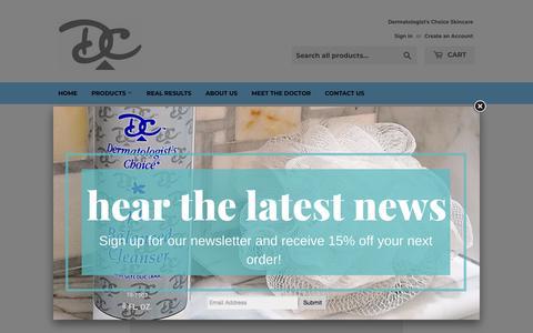 Screenshot of Contact Page dermatologistschoice.com - Contact Us – Dermatologist's Choice Skin Care - captured June 30, 2018