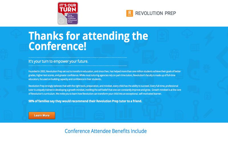 Revolution Prep Sponsors It's Our Turn Conference