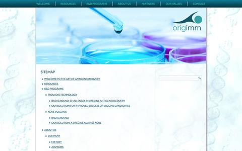 Screenshot of Site Map Page origimm.com - Sitemap   Origimm Biotechnology - captured Oct. 26, 2014