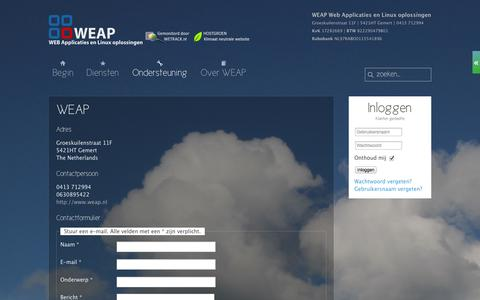 Screenshot of Contact Page weap.nl - WEAP - Contact - captured Oct. 27, 2014