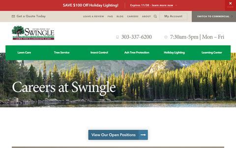 Screenshot of Jobs Page myswingle.com - Careers - Swingle Landscape, Lawn Care & Tree Service - captured Oct. 24, 2017